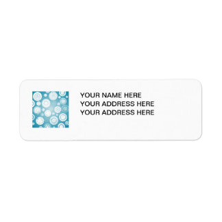 Blue and White Circles Label