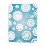 Blue and White Circles Rectangle Magnet