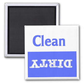 Blue and White Clean/Dirty  Dishwaher Magnet