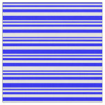 [ Thumbnail: Blue and White Colored Lines Fabric ]