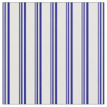[ Thumbnail: Blue and White Colored Lines Pattern Fabric ]