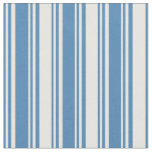 [ Thumbnail: Blue and White Colored Lines/Stripes Pattern Fabric ]