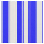 [ Thumbnail: Blue and White Colored Striped/Lined Pattern Fabric ]
