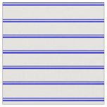 [ Thumbnail: Blue and White Colored Stripes Fabric ]