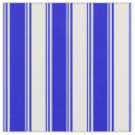 [ Thumbnail: Blue and White Colored Stripes/Lines Pattern Fabric ]