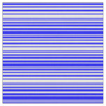 [ Thumbnail: Blue and White Colored Stripes Pattern Fabric ]