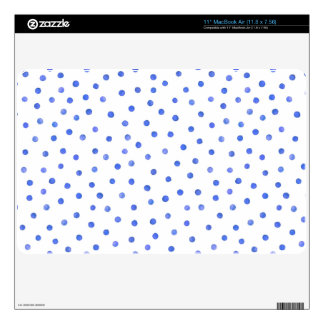 Blue and White Confetti Dot Pattern Decal For The MacBook Air