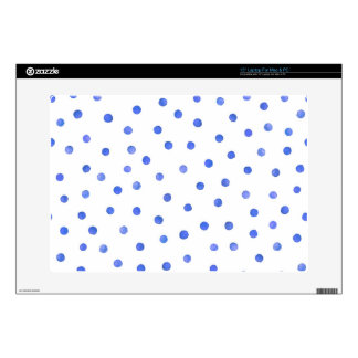 """Blue and White Confetti Dot Pattern Skin For 15"""" Laptop"""