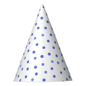 Beach Themed Blue and White Confetti Dots Pattern Party Hat