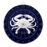 Blue and White Crab Shape Dart Boards
