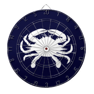 Blue and White Crab Shape Dartboard