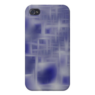blue and white crisscross i case for iPhone 4
