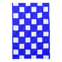 Blue and White Custom Checkered Kitchen Towel