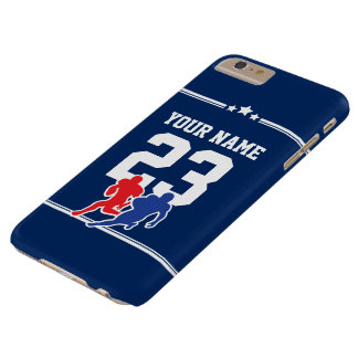 Blue and white customizable football team colors… barely there iPhone 6 plus case