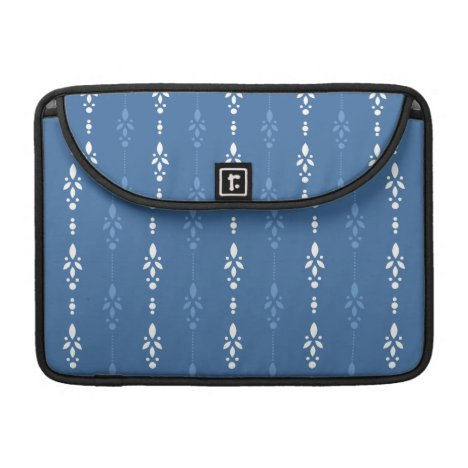 Blue and White dainty wallpaper styled design MacBook Pro Sleeve