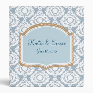 Blue and White Damask, Custom Photo Album Binder
