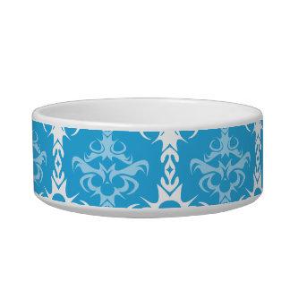 Blue and White Damask Pattern Bowl