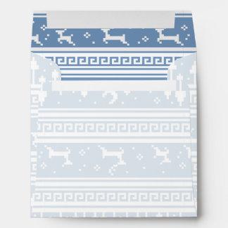 Blue And White Deer Family Moonlit Forest Envelopes
