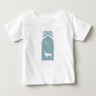 Blue And White Deer In The Forest Celtic Art Baby T-Shirt