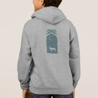 Blue And White Deer In The Forest Celtic Art Hoodie