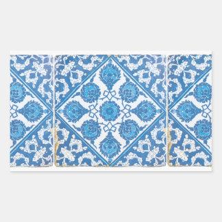 Blue and White Delft Cornflower Sticker