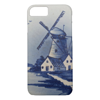 Blue and White Delft Windmill iPhone 7 Case