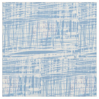 Blue and White Denim Weave Cotton Fabric