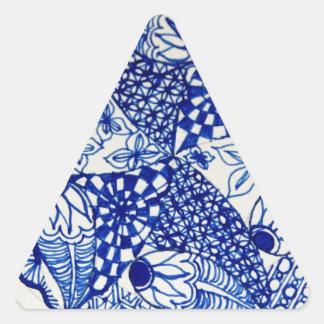 Blue and White Design- Grab Bag Triangle Sticker
