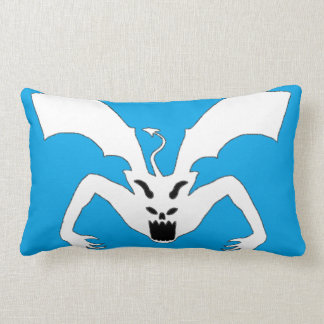 Blue And White Devil Lumbar Pillow