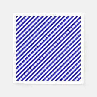 Blue and White Diagonal Stripes Napkin