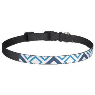 Blue and White Diamond Dog Collar