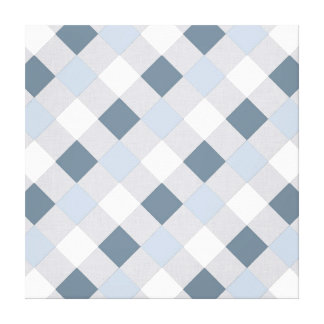 Blue and White Diamonds Canvas Prints