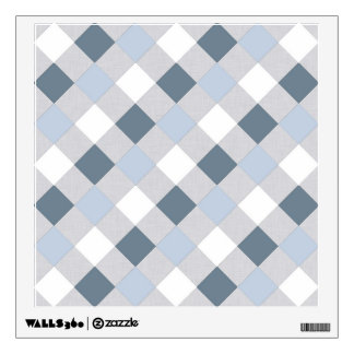 Blue and White Diamonds Wall Decal