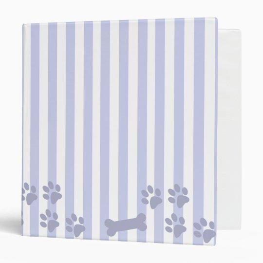 Blue And White Dog Bone Dog Print Binder