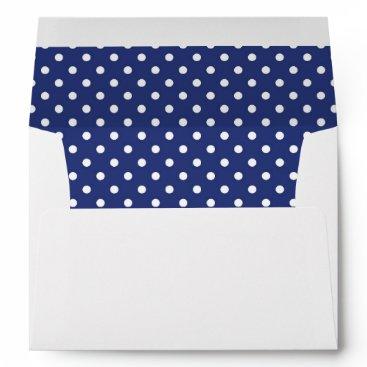 partridgelanestudio Blue and White Dot with Return Address Envelope