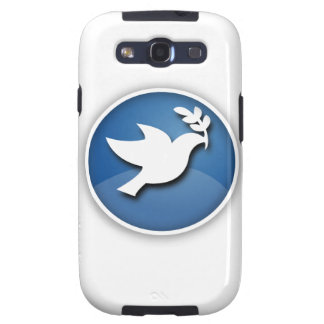 Blue and White Dove of Peace Samsung Galaxy SIII Cases