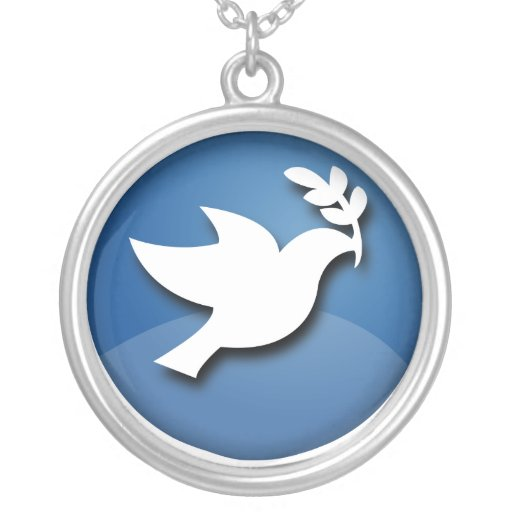 Blue and White Dove of Peace Jewelry