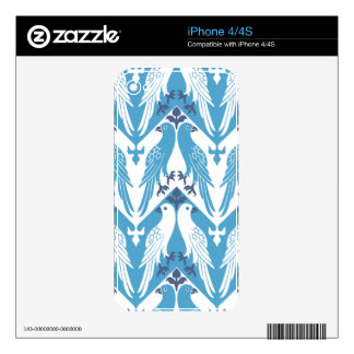 Blue and White Doves iPhone 4S Decals