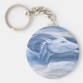 Blue and White Dragon Keychain