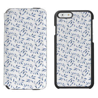 Blue and White Elegant Willow Pattern iPhone 6/6s Wallet Case