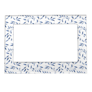 Blue and White Elegant Willow Pattern Magnetic Photo Frame