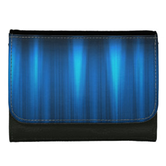 Blue and White Energy - Black Faux Leather Wallet