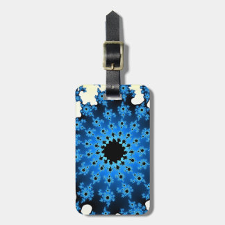 Blue and White Eye Luggage Tag