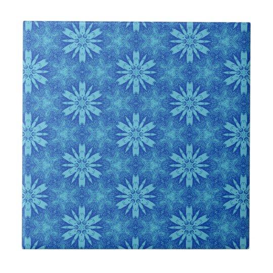 Blue and White Floral Design T016 Ceramic Tile
