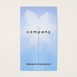Blue and White Floral Glow Business Card