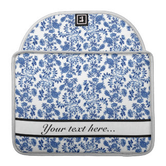 Blue and White Floral MacBook Case