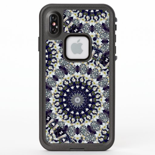 Blue and White Floral Mandala LifeProof Phone Case
