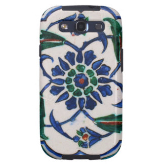 Blue and white floral Ottoman era tile design Samsung Galaxy SIII Cases