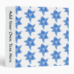 Blue and White Floral Pattern. 3 Ring Binders