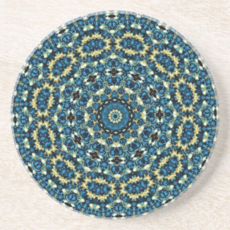 Blue And White Floral Pattern Coaster